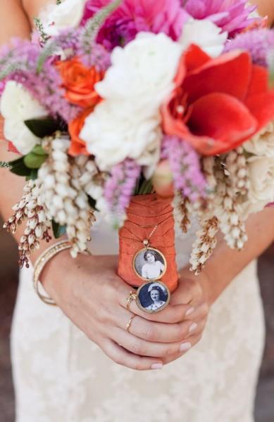 Bouquet sposa dettaglio foto nonni