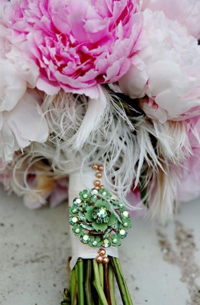 Bouquet sposa dettaglio gioiello