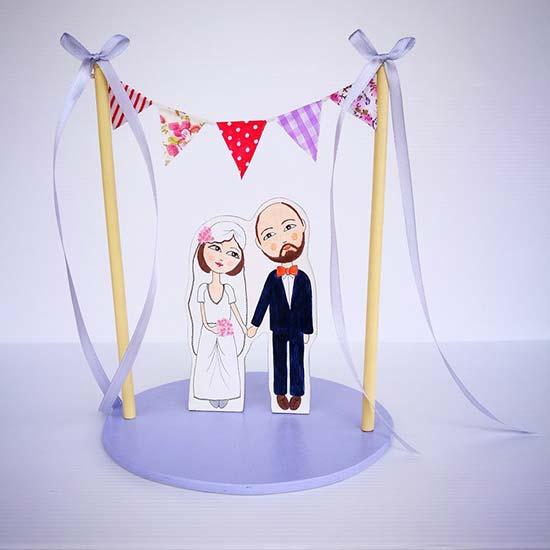 cake topper personalizzati matrimonio