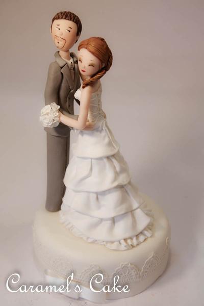 Cake topper sposini personalizzati
