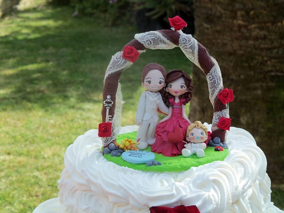 Cake topper matrimonio famiglia