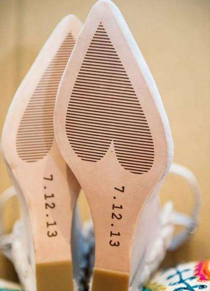 Scarpe sposa suole personalizzate data