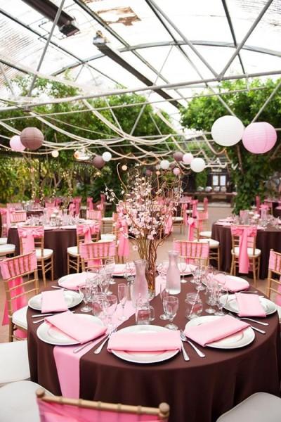 Allestimenti matrimonio tema cioccolato e rosa