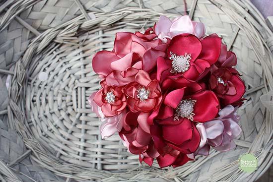 bouquet tessuto stoffa raso