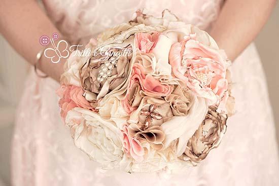 bouquet tessuto staffa