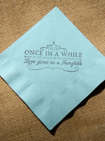 Matrimonio tovagliolo con timbro personalizzato