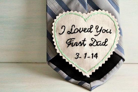 Regalo padre sposa cravatta con dedica