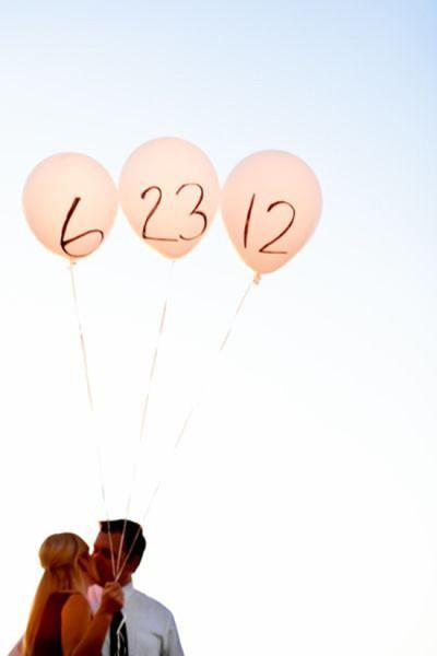 Save the date foto palloncini