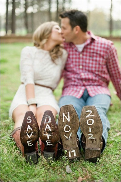 Save the date foto suola scarpe
