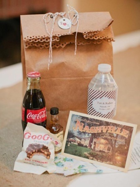 Wedding welcome bag sacchetto