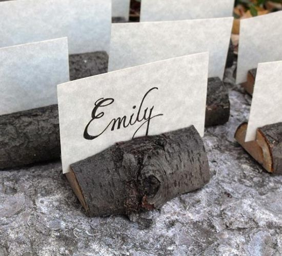 Segnaposto matrimonio eco-friendly legno