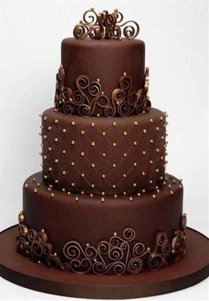 torta matrimonio cioccolato con decorazioni quilling