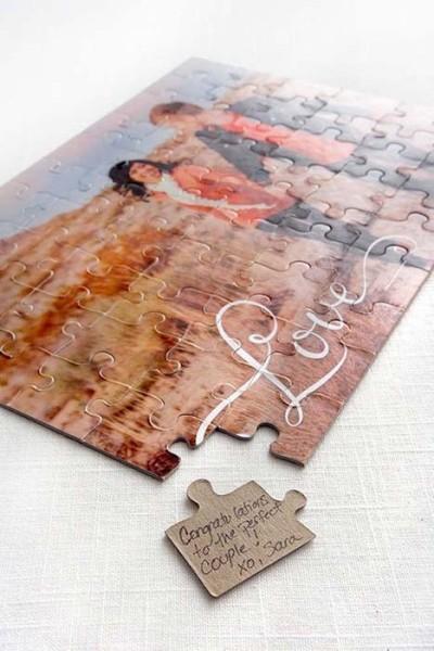 Guestbook a forma di puzzle