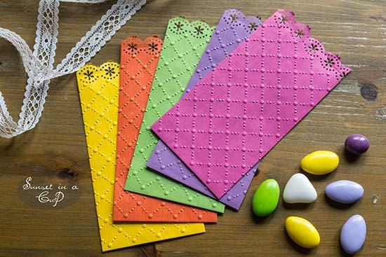 Sacchetti confettata merlettati e colorati