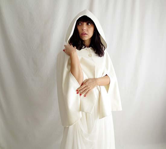 matrimonio invernale mantella per abito sposa