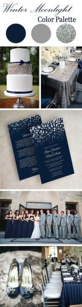 matrimonio invernale palette colori argento blu