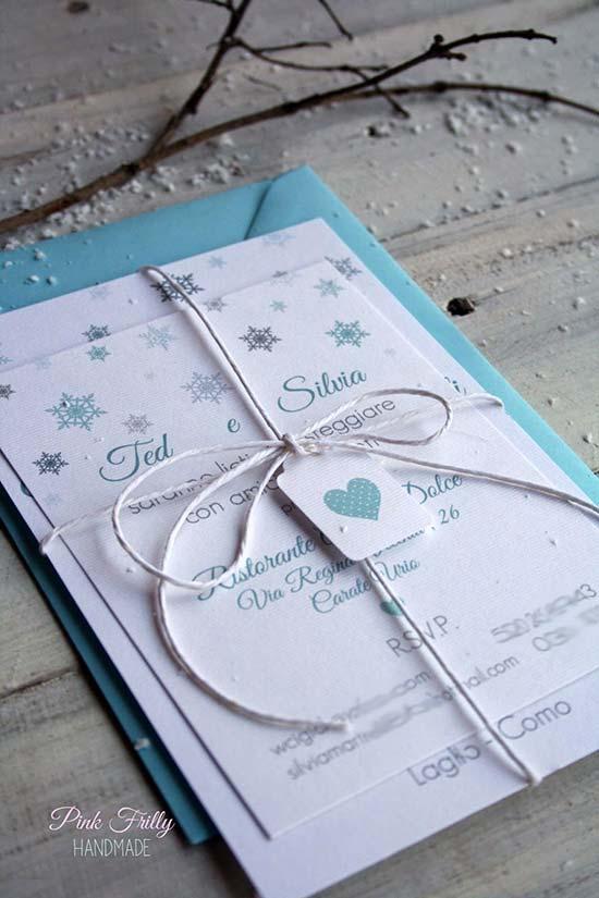 matrimonio invernale partecipazioni inviti neve