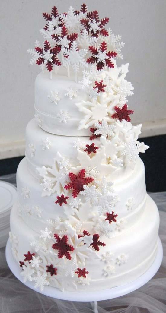 matrimonio invernale torta fiocchi di neve