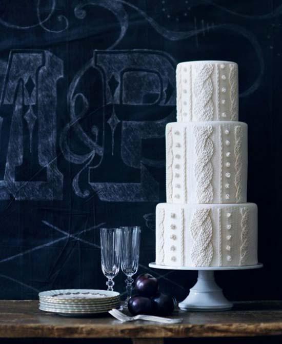 torta matrimonio invernale bianca