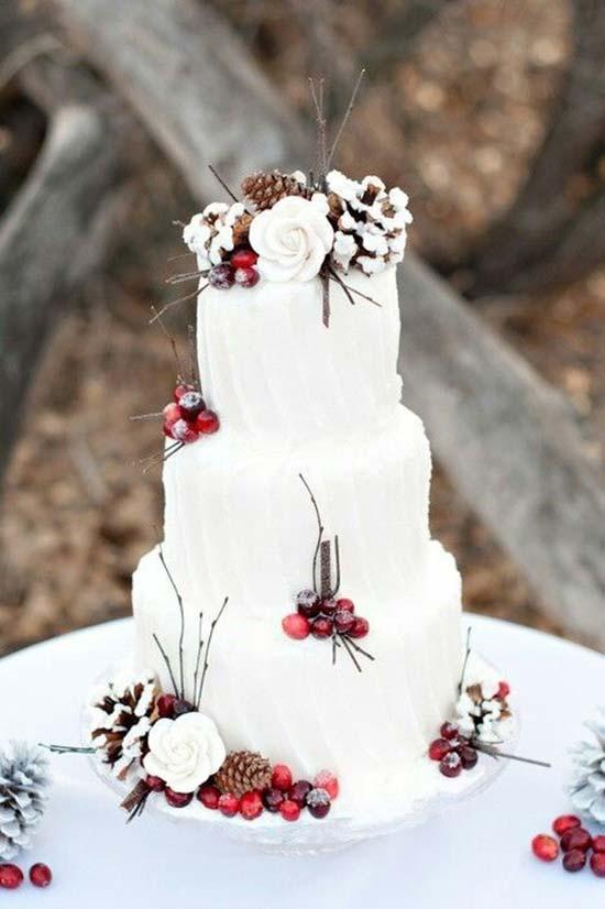 matrimonio inverno torta nuziale