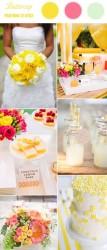 Palette colori matrimonio 2016 buttercup giallo e rosa