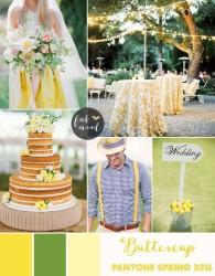 Palette colori matrimonio 2016 buttercup giallo e verde