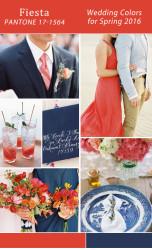 Palette colori matrimonio 2016 fiesta rosso e blu