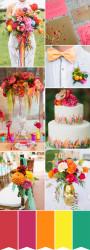 Palette colori matrimonio 2016 fiesta rosso rosa e giallo