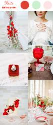 Palette colori matrimonio 2016 fiesta rosso rosa e verde