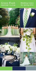 Palette colori matrimonio 2016 green flash verde e blu