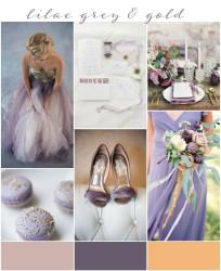 Palette colori matrimonio 2016 lilac gray e oro