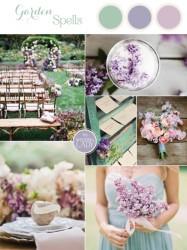 Palette colori matrimonio 2016 lilac gray e verde