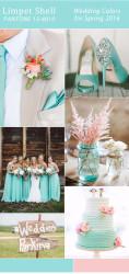 Palette colori matrimonio 2016 limpet shell e rosa
