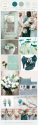 Palette colori matrimonio 2016 limpet shell e verde
