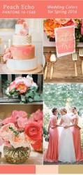 Palette colori matrimonio 2016 peach echo e oro
