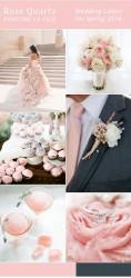Palette colori matrimonio 2016 rose quartz grigio