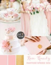 Palette colori matrimonio 2016 rose quartz oro