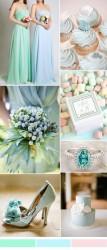Palette colori matrimonio 2016 serenity e verde menta