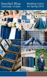 Palette colori matrimonio 2016 snorkel blue e marrone