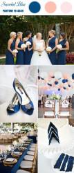 Palette colori matrimonio 2016 snorkel blue e pesca