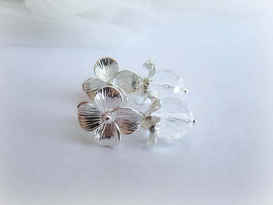 orecchini matrimonio pendenti fiore
