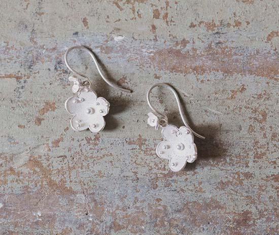 orecchini per sposa fiore