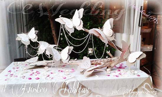 tableau farfalle shabby-chic