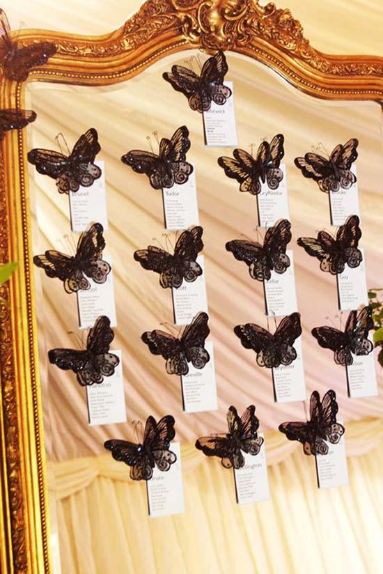 tableau mariage farfalle specchio