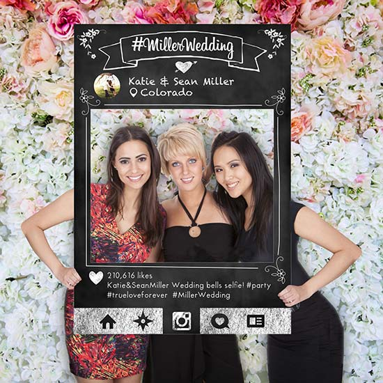cornice instagram photo booth matrimonio