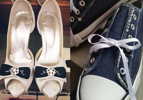 scarpe sposa personalizzate jeans