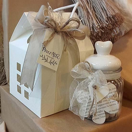 Bomboniera Matrimonio Country Chic : Bomboniere con vasetti di vetro originali e personalizzati