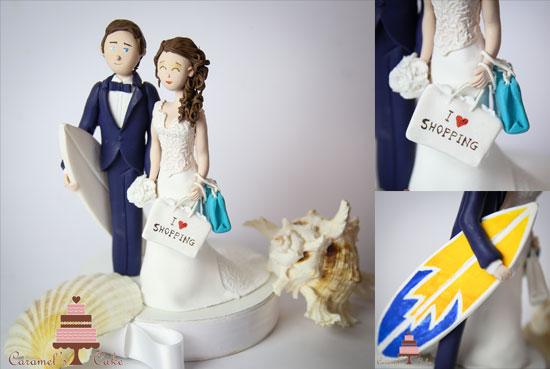statuine torta nuziale divertenti shopping surf