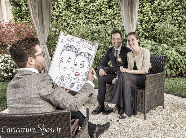 caricature sposi divertenti