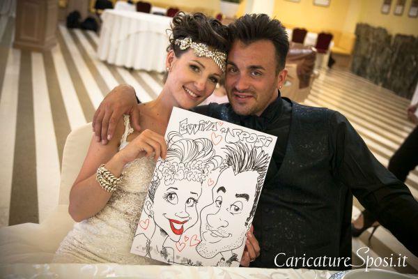 caricature sposi simpatiche